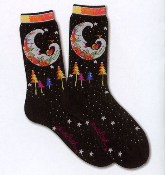 """Laurel Burch Socks  """"Mystic Moon""""  -  LB1068"""