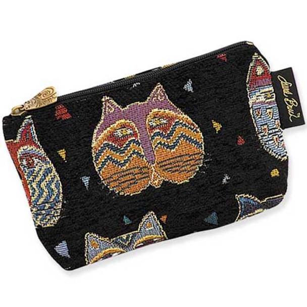 "Laurel Burch Tapestry Cosmetic Bag ""Feline Faces""  - LB3090A"