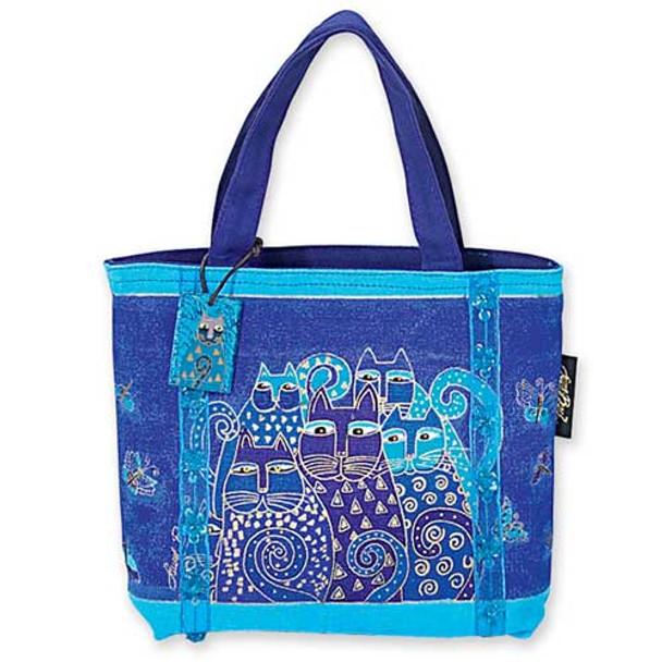 """Laurel Burch """"Indigo Cats"""" Small Handbag  -  LB415"""