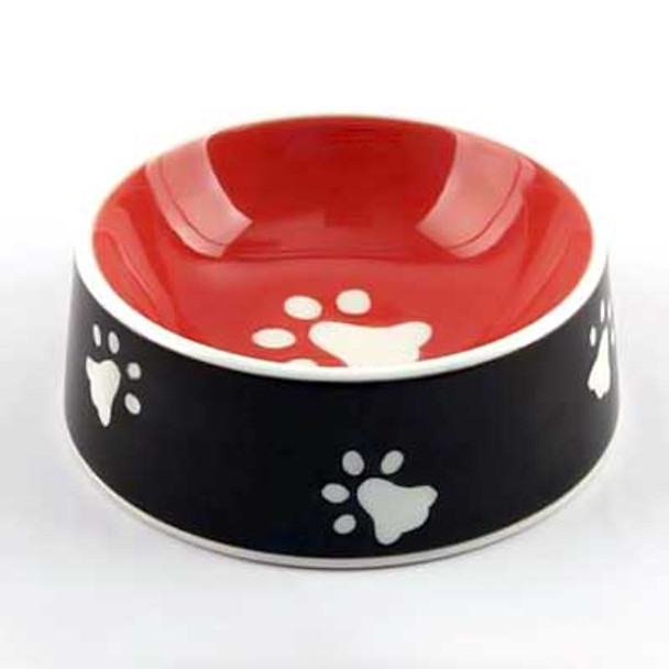 Ceramic Dog Paws Bowl 11623
