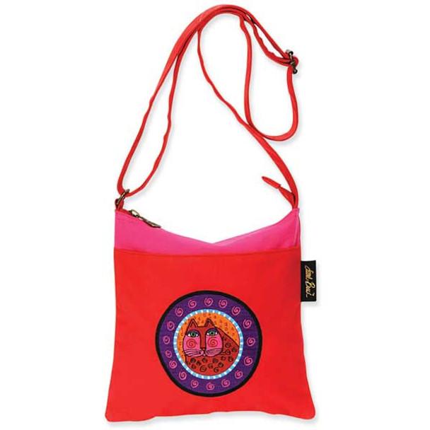 Laurel Burch Feline Crossbody Bag Red LB4670B
