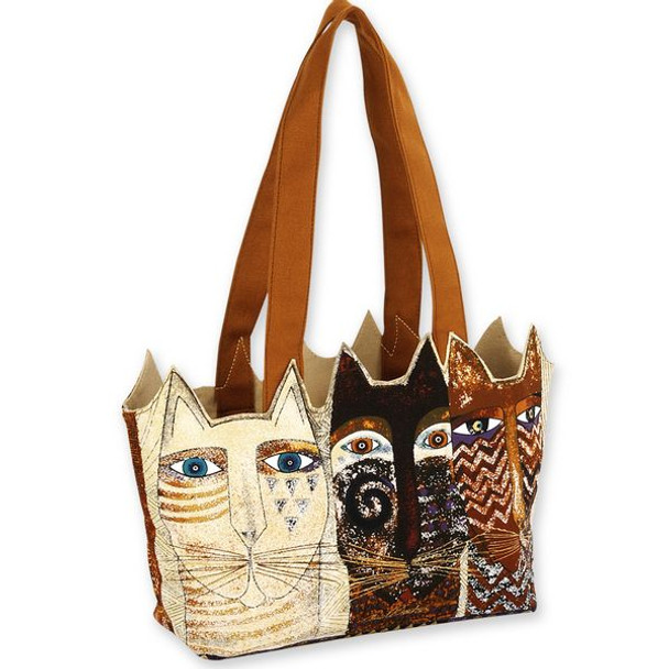Laurel Burch Ancestral Cats Medium Tote - LB4763