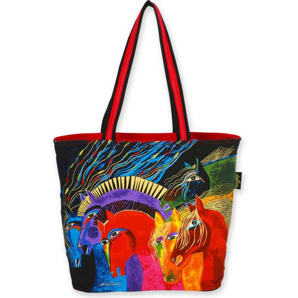 Laurel Burch Wild Horses of Fire Large Square Tote - LB4840