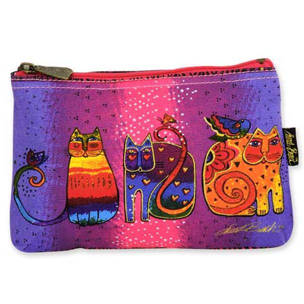 Laurel Burch Cotton Canvas Cosmetic Bag Cat Tails - LB4880E