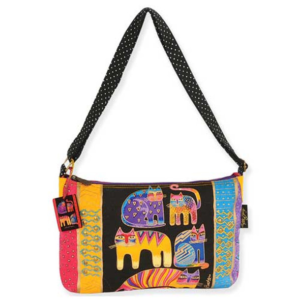 Laurel Burch Fantastic Feline Totem Medium Shoulder Bag - LB5124