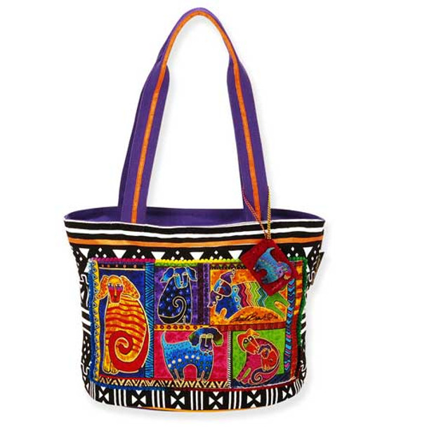 Laurel Burch Dog Tails Patchwork Medium Tote LB5210