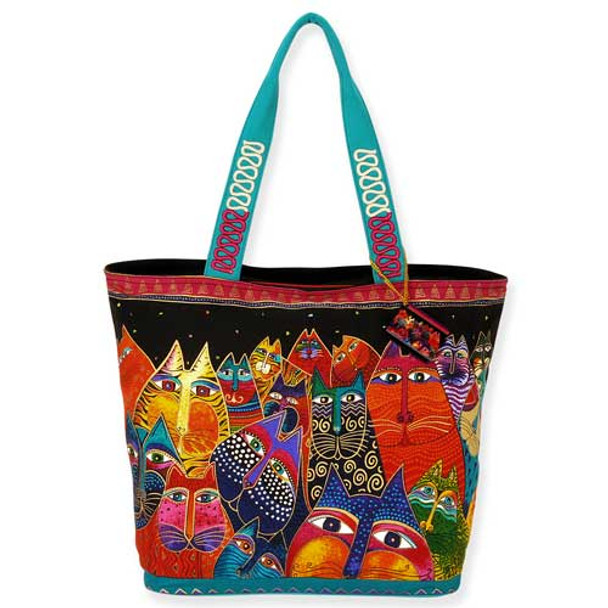Laurel Burch Fantasticats Shoulder Tote LB5230