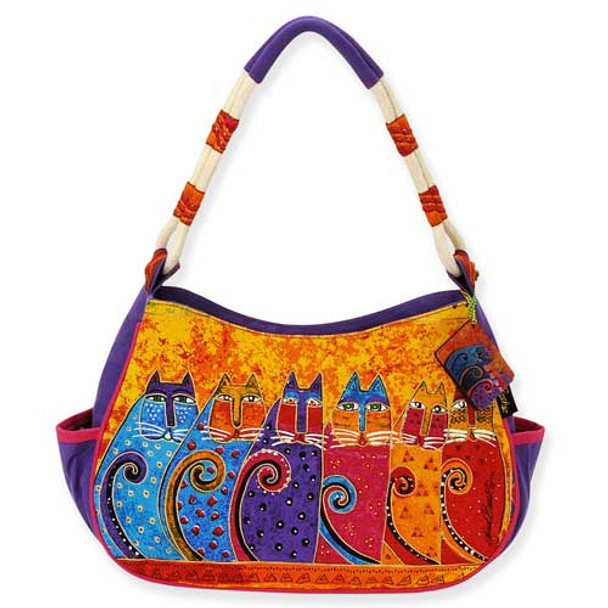 Laurel Burch Feline Tribe Medium Hobo Bag LB5243