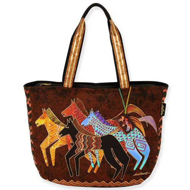 Laurel Burch Native Horses Shoulder Tote Bag LB5270