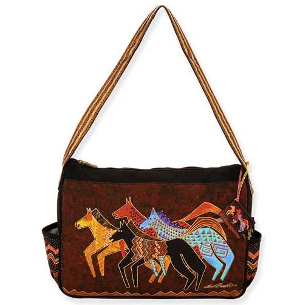Laurel Burch Native Horses Medium Hobo Bag LB5273