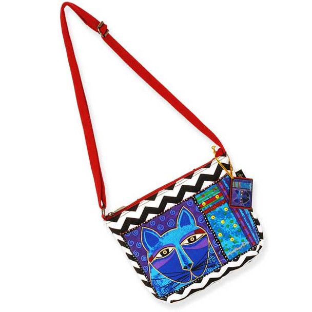 Laurel Burch Whiskered Cats Crossbody Bag Red LB5320E
