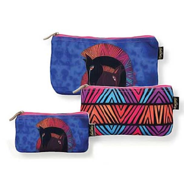 Laurel Burch Embracing Horses 3 BAG SET Cosmetic Bags LB5330