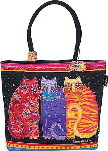 """Laurel Burch """"Feline Friends"""" Large Square Tote - LB771"""