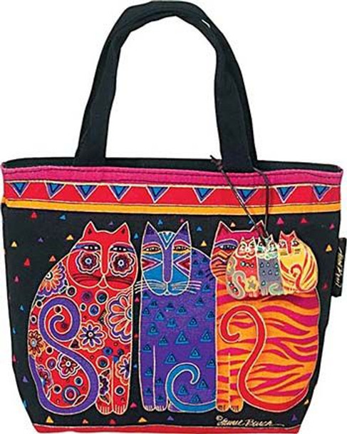 "Laurel Burch ""Feline Friends"" Small Square Tote - LB774"