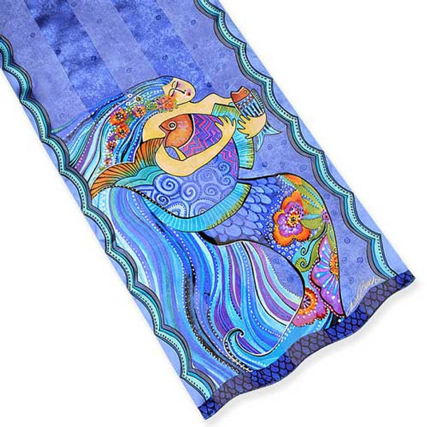 Laurel Burch Classic Silk Fabric Scarf Sea Dreams LBS191