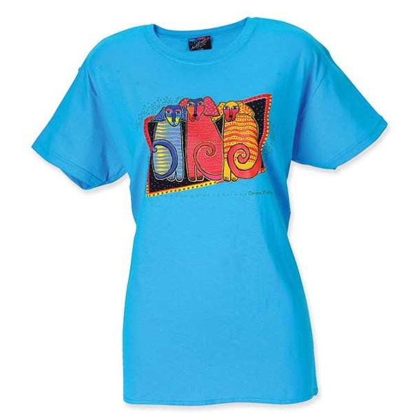 """Laurel Burch 2011 Tee Shirt """"Canine Friends"""" - LBT016"""