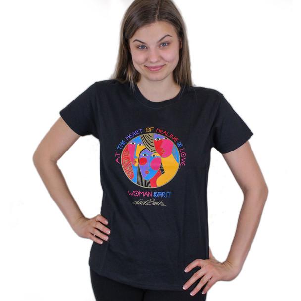 """Laurel Burch Tee Shirt """"Woman Spirit"""" LBT022"""