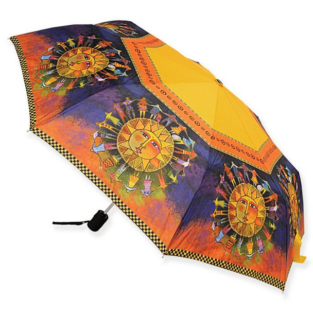 Laurel Burch Compact Umbrella Harmony Under the Sun - LBU006A