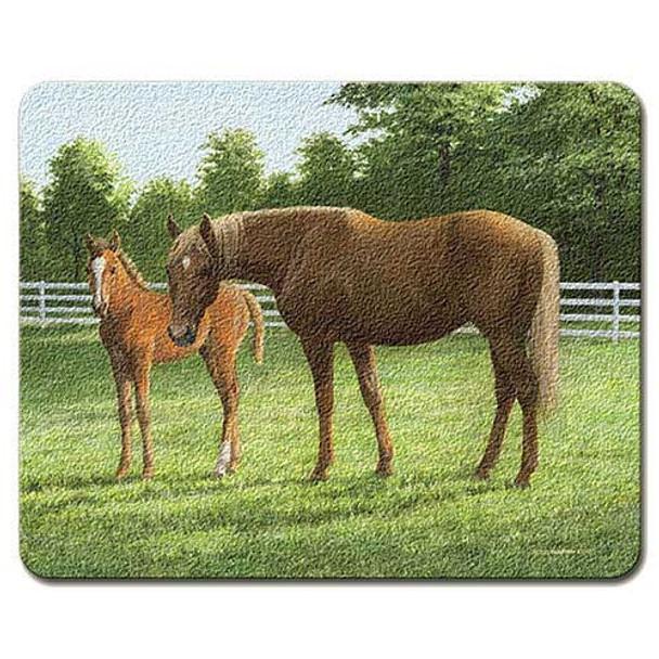 Horses Grazing Glass Cutting Board SM_CUT-887