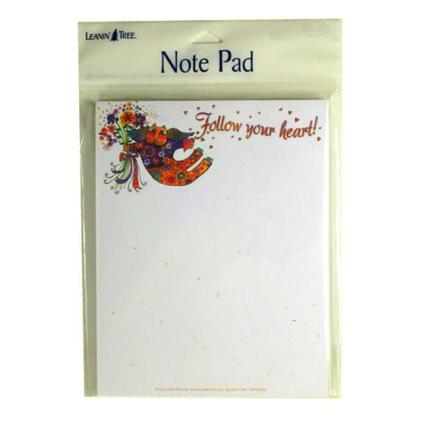Laurel Burch Cat Note Pad Follow Your Heart - SNP63088