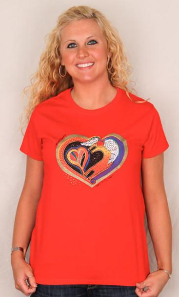 """Laurel Burch Tee Shirt """"Heart Of My Heart"""" LBT020"""