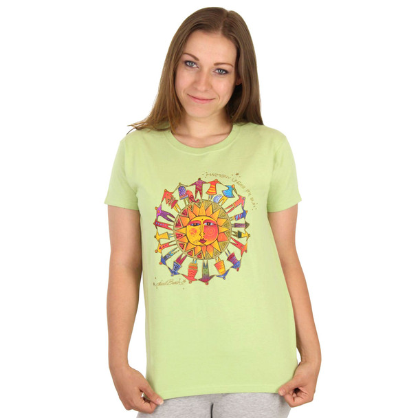 "Laurel Burch Tee Shirt ""Harmony Under The Sun"" LBT025"