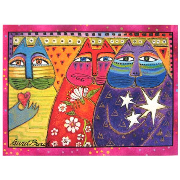 "Laurel Burch Birthday Card ""Three Wishes"" BDG11660"
