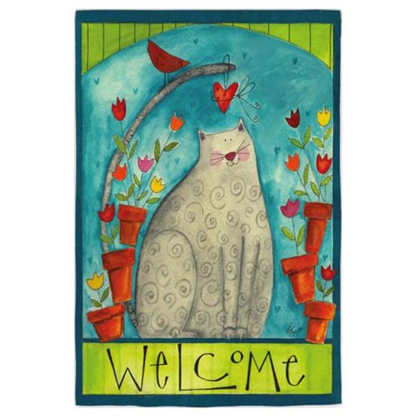 Cat Welcome Garden Flag 14S2413