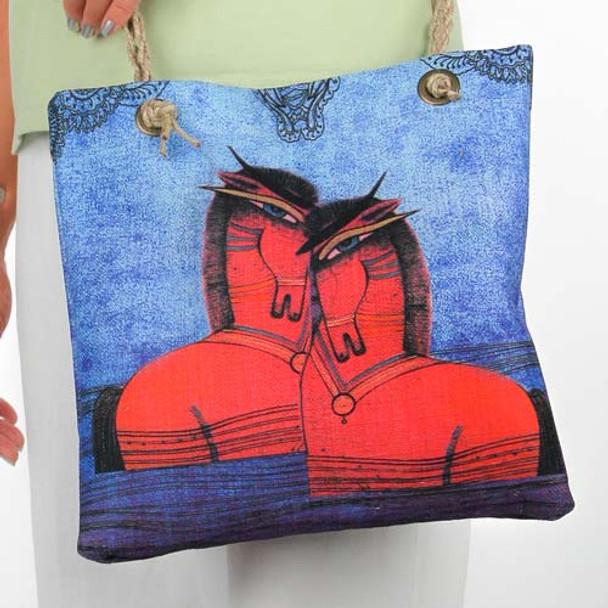 "Gypsy Sorrel Horses"" Horse Lovers Crossbody Shoulder Bag 13x12x4 Tote - SS246C"