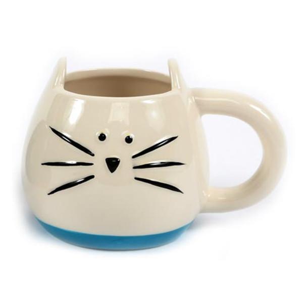 White Cat Shaped Ceramic Mug 40126W