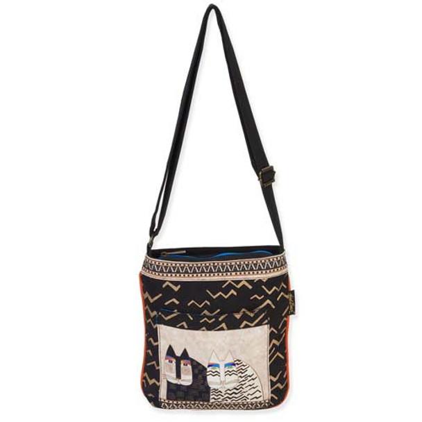 Laurel Burch Wild Cats Crossbody Tote Bag LB5342