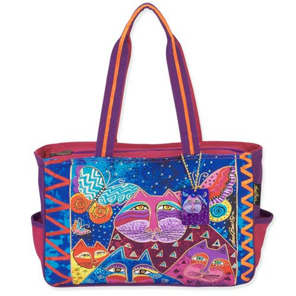 Laurel Burch Cats with Butterflies Medium Tote