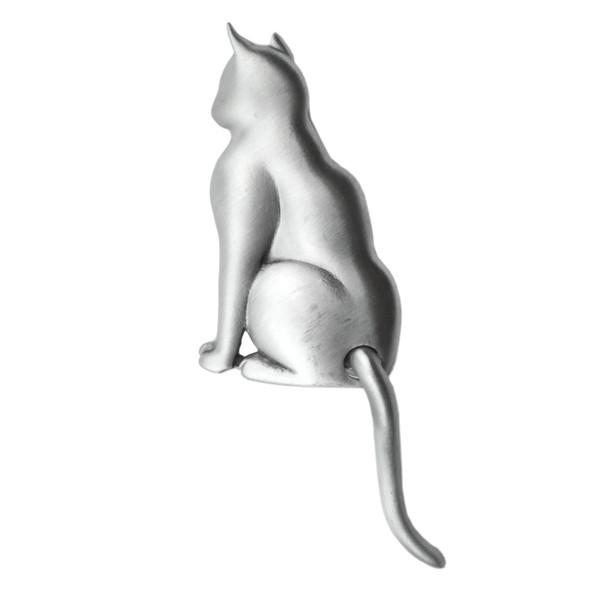 Cat Swinging Tail Pewter Pin 1043PP