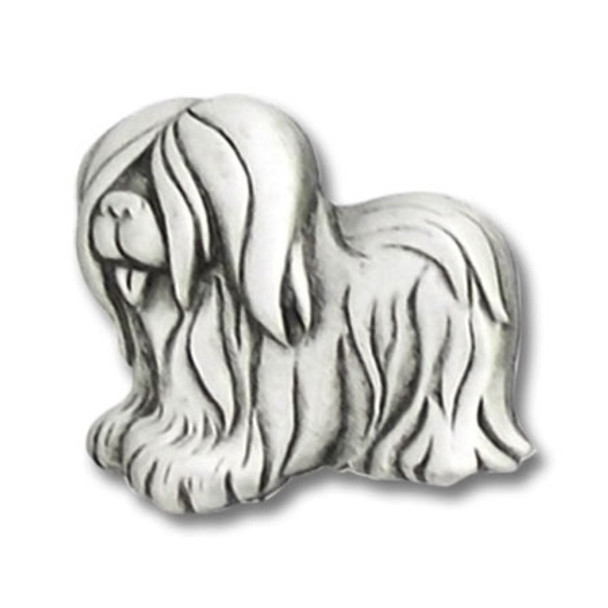 Shaggy Dog Pewter Pin 2394PP