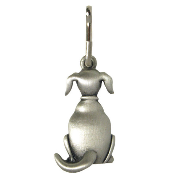 Dog Zipper Pull Pewter Back Dog 1074ZP