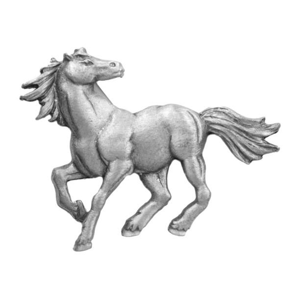 Horse Stallion Running Pewter Clutch Pin 3823CP