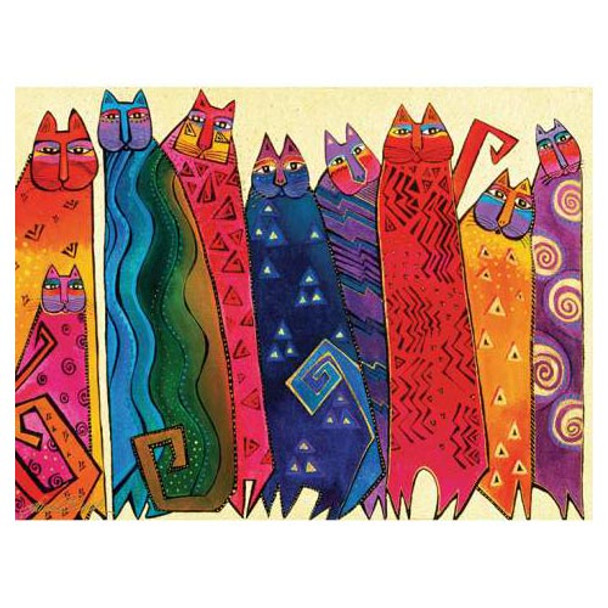 Canvas Santa Fe >> Laurel Burch Canvas Santa Fe Felines Cats 12x16 Wall Art Lb26002