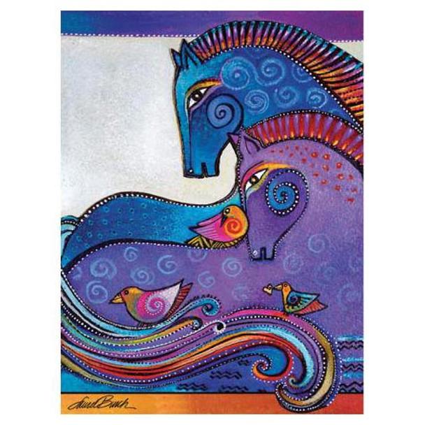 Laurel Burch Canvas Aquatic Mares Horses 12x16 Wall Art LB26009