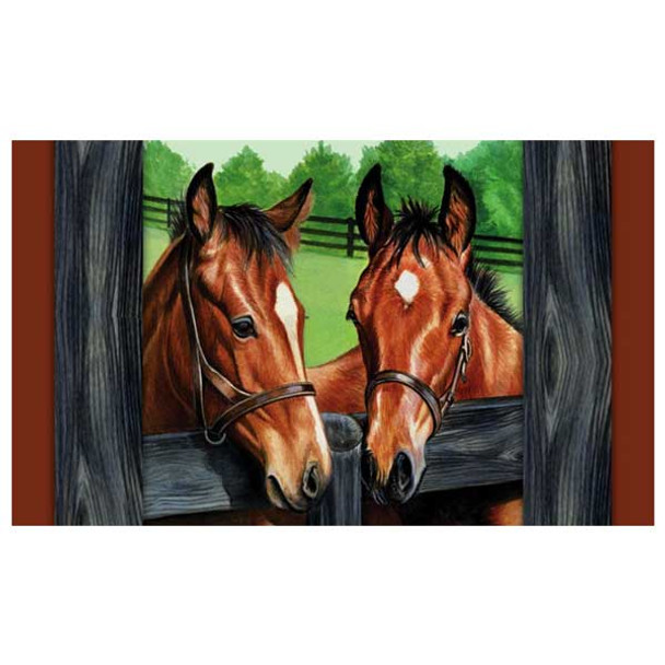 Horses By The Fence Floormat 41834