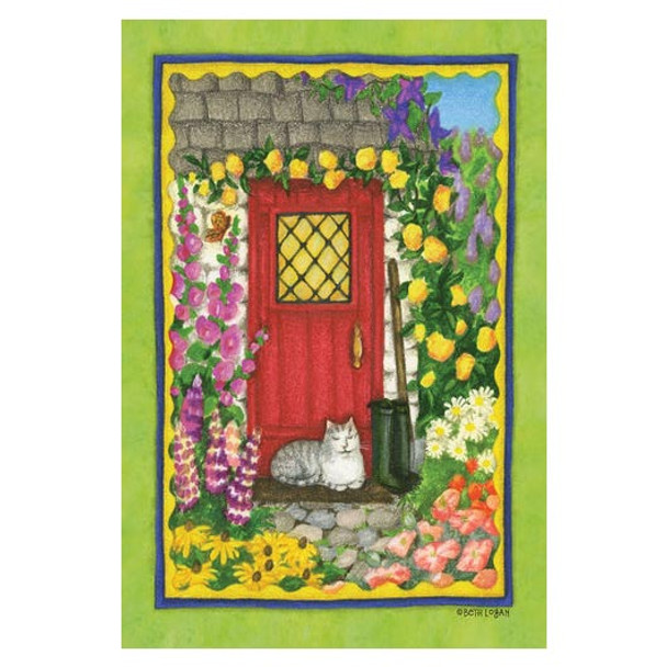 Cozy Cottage Cat Garden Flag - 119765