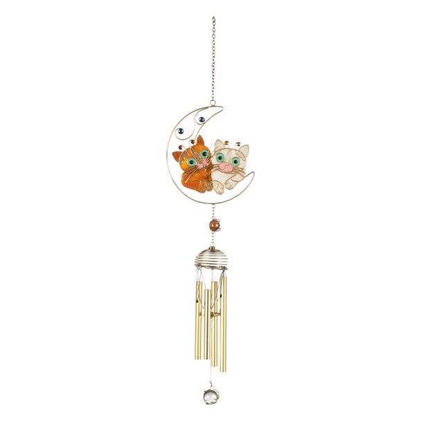Best Friends Cats Art Windchimes Orange White Cat - 62882