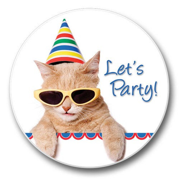 Party Cat Coaster for Car - 03-522