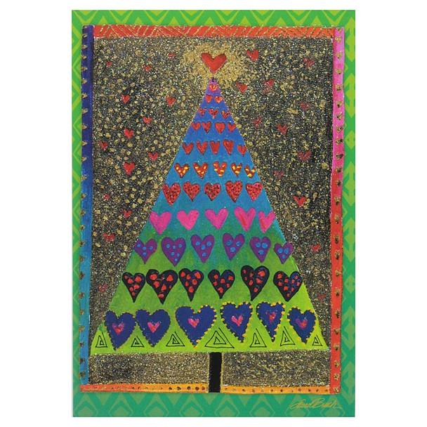 Laurel Burch Christmas Tree Card Single - CCC24633