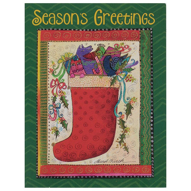 Laurel Burch Seasons Greetings Christmas Cards 12 Pack N92489