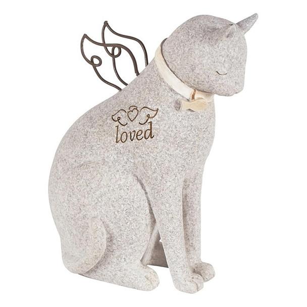 Loved Faithful Cat Angel Figurine 14212