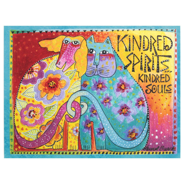 "Laurel Burch Small Blank Card - ""Kindred Spirits Kindred Souls"" - BKN95484"