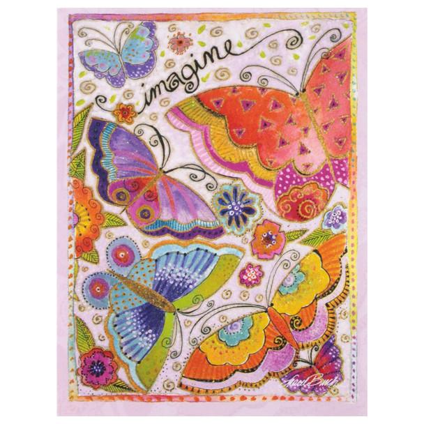 "Laurel Burch Small Blank Card - ""Imagine"" Butterfly - BKN95483"