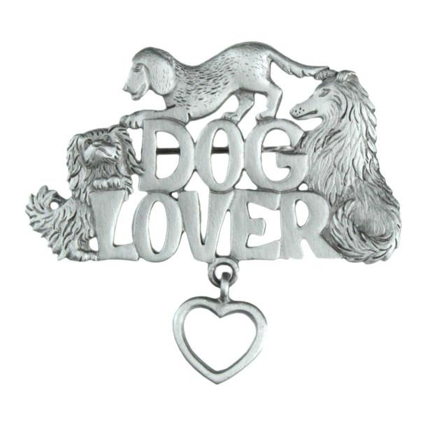 Dog Lover Pewter Pin - 1549PP