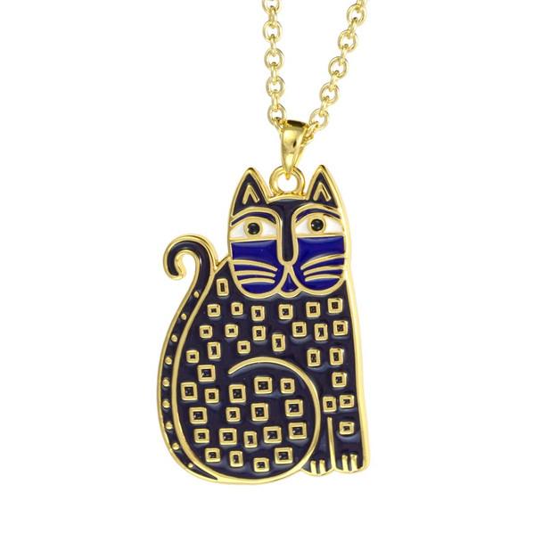 Indigo Cat Laurel Burch Necklace 5028