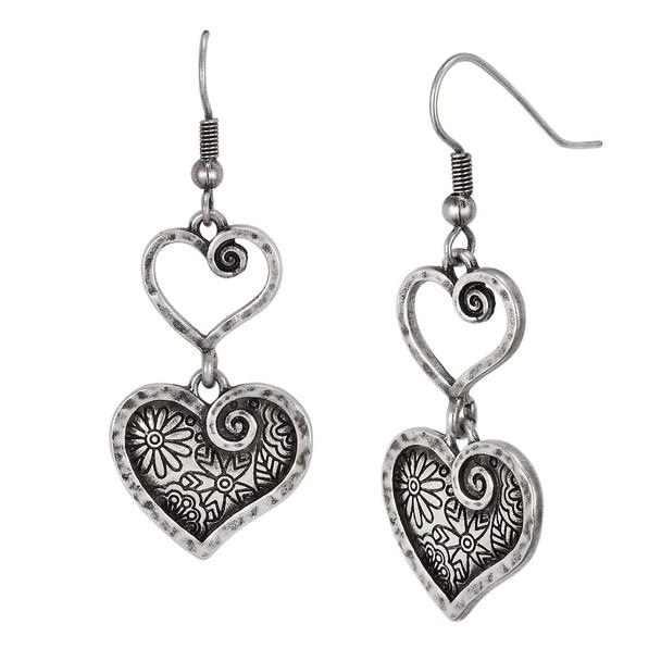 Blooming Heart Laurel Burch Earrings 6093